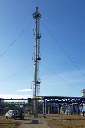 guyed flare tower