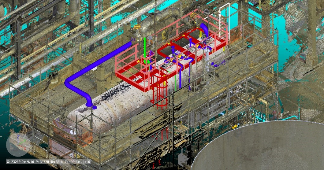 New Drum Scan with New Platform and New Piping in Existing Location