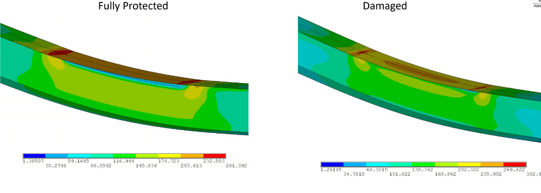 FEA Analysis Comparing a Beam both Fully Protected by Fireproofing and with Damaged Fireproofing