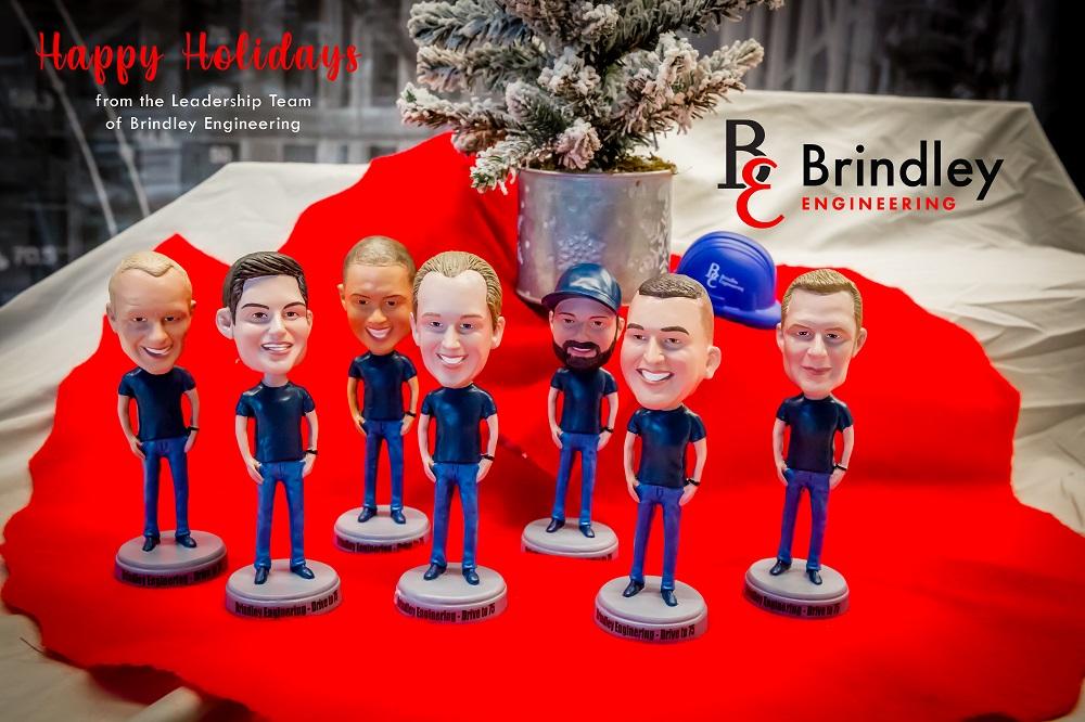 brindley leadership team bobbleheads