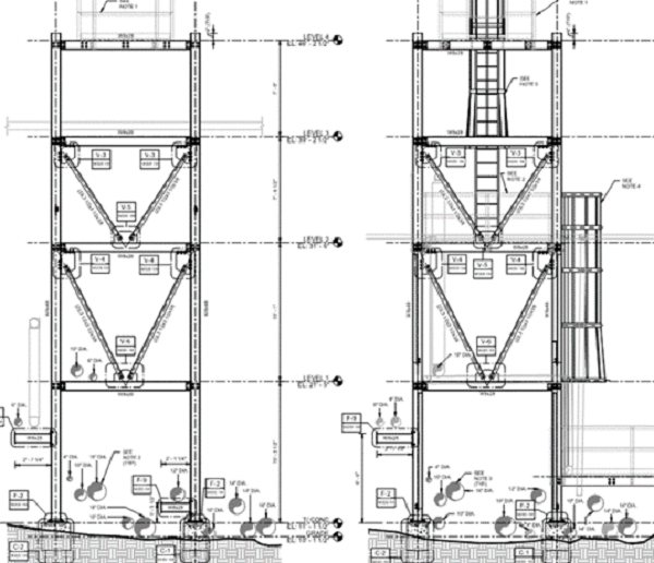 Structural Engineering Design of Pipe Stanchion Support