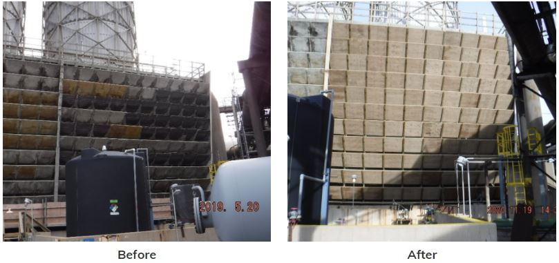 cooling tower maintenance before and after